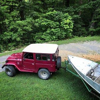 Toyota Fj40, Toyota Landcruiser, Feathercraft Boat