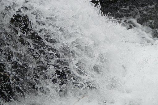Water, Inject, Waterfall, Close, Drip, Roar, Foam
