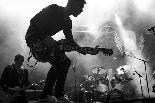 Musician, Guitarist, Guitar, Music, Young, Silhouette