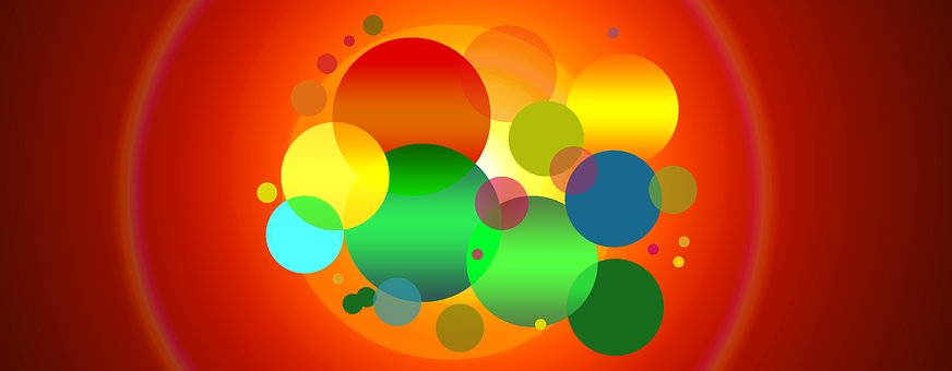 Banner, Header, Points, Circle, Colorful, Abstract