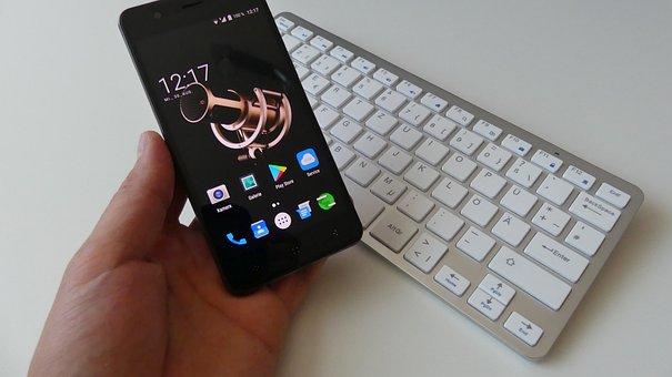 Smartphone, Display, Screen, Touch Screen, Keyboard