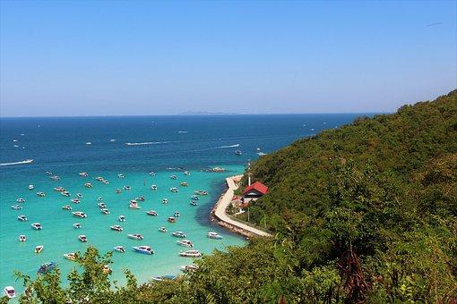 Thailand, Koh Larn, Pattaya, Island, Sea, Beach