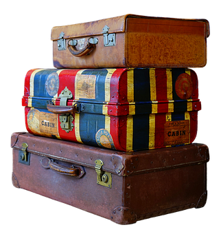 Luggage, Stack, Old, Antique, Old Suitcase, Travel