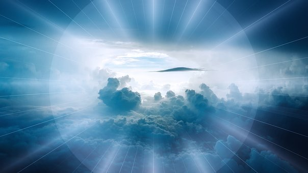Clouds, Landscape, Beyond, Sky, Rays, Majestic