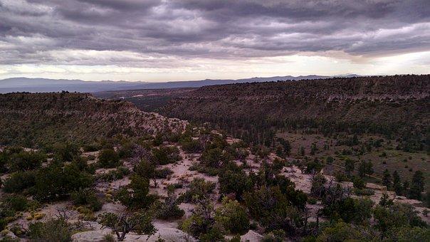 Mesa, Desert, Dusk, Landscape, Nature, New Mexico, Sky