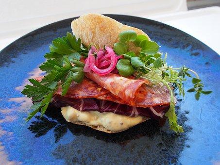 Sandwich, Salami, Italian, Pickled Red Onions