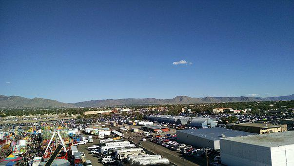 State Fair, City, Mountains, Landscape, Cloud, Usa