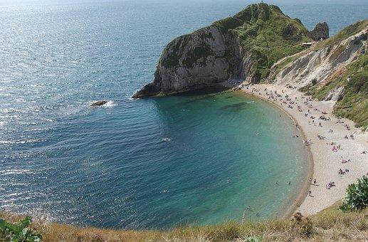 Durdle Door, East Beach, Jurassic Coast, Dorset, Summer