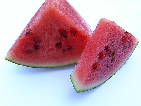 Fruit, Watermelon, Eating, Red, White, Vitamins