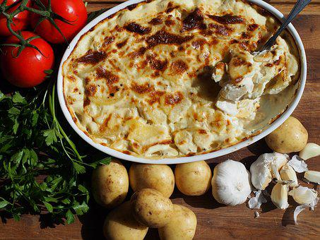 Cream, Potatoes, Gratin, Accessories, Flødekartofler