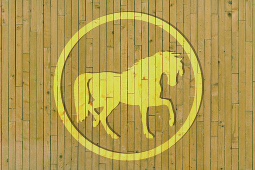 Wood, Horse, Circle, Cover Design, Light, Xor, Add
