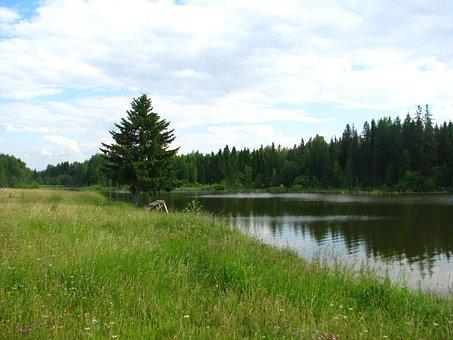 Perm Krai, Pond, Landscape, Nature, Travel, Beach, Sky