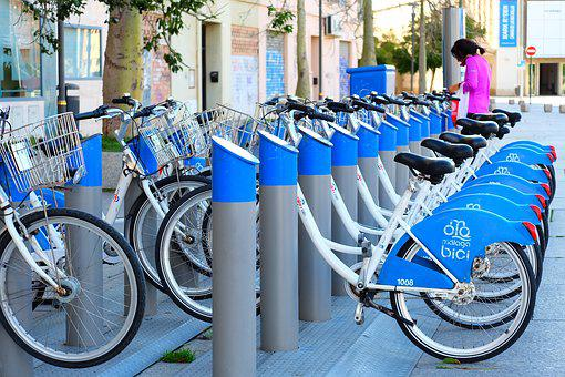 Bicycle, Blue, Parking, Bike, Cycle, Sport, Travel