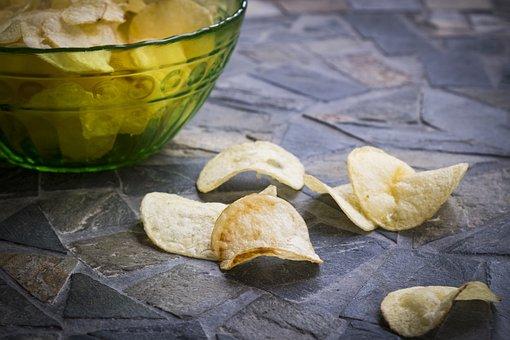 Chips, Potato Chips, Crispy, Snack, Food, Eat, Nibble