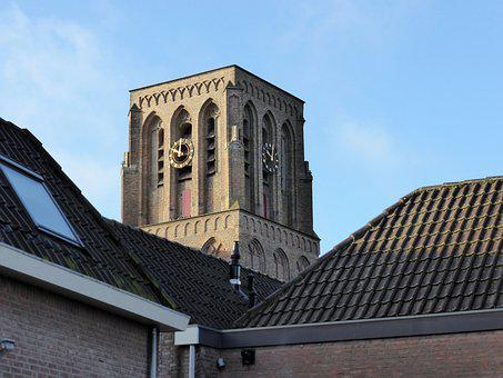 Building, Church Tower, Square, Church