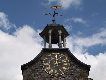 Tower, Clock, Sky, Building