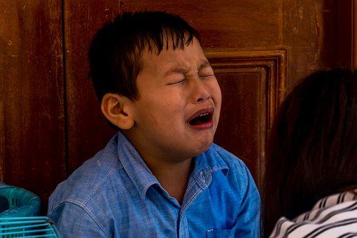Emotional, Sad, Childhood, Boy, Crying, Depression