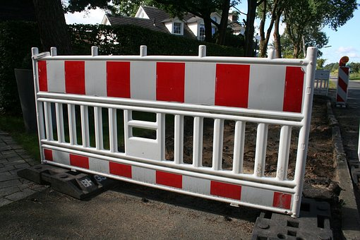 Barrier, Red White, Construction Fence, Fences, Site