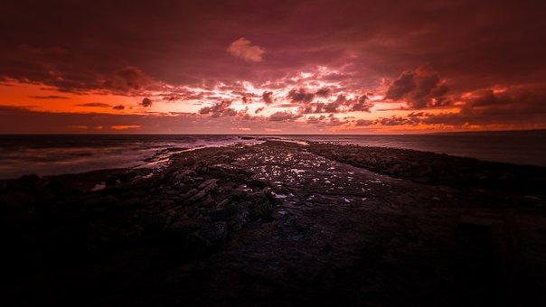 Filey Brigg, Filey, Focus, Sunrise, Golden Hour, Rocks