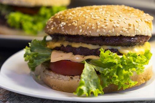 Burger, Hamburger, Cheeseburger, Eat, Food, Nutrition