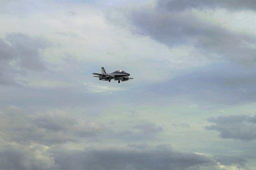 Aircraft, Clouds, Forward, Military, Italian Aircraft