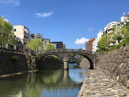 Japan, Nagasaki, Megane Bridge, Glasses, Bridge