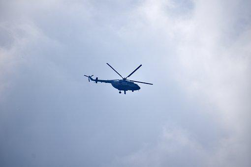 Helicopter, Indian Air Force, Clouds, Sky