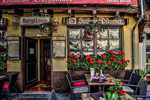 Terrace, Cafe, Restaurant, Burgplaz, Linz Am Rhein