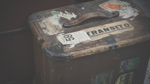 Luggage, Old, Old Suitcase, Leather Suitcase, Antique
