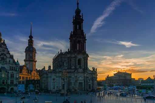 Dresden, Church, Places Of Interest, Panorama