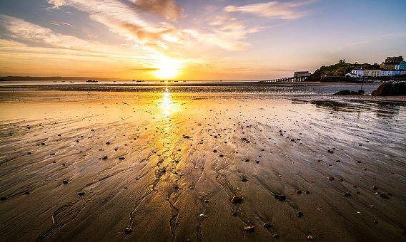 Tenby, Wales, Pembrokeshire, Sunrise, Sun Up