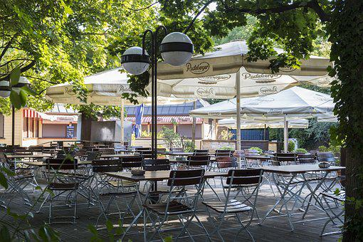 Beer Garden, Radeberger, Dining Tables, Chairs
