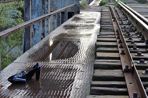 Train Tracks, Abandoned, Rail, Train, Railway, Pathways