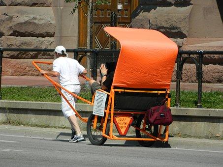 Rickshaw, Taxi, Vehicle, Transport, Road, Toronto