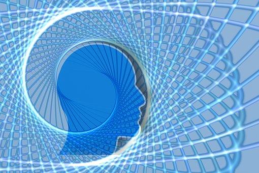 Spiral, Head, Silhouette, Profile, Round, Route, Symbol