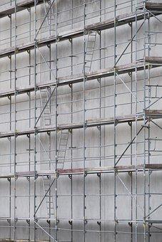 Scaffold, Scaffolding, Site, Build, Construction