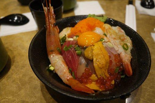 Seafood, Japanese, Sushi, Fish, Tuna, Food, Fresh, Rice