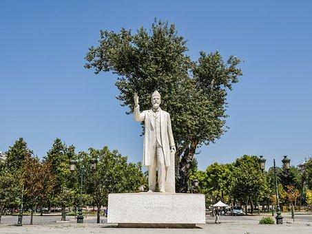 Greece, Thessaloniki, Statue, Square, Monument