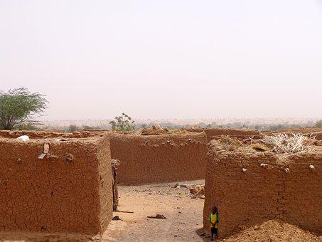 Village, Sahel, Desert, Africa, Traditional, Tradition