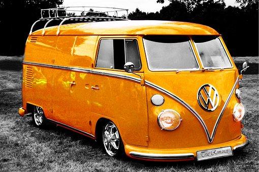 Vw, Bus, Camper, Van, Volkswagen, Vintage, Retro