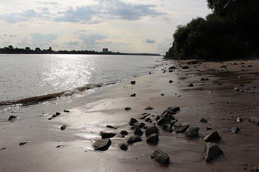 Elbe, Elbe Beach, Beautiful, Water, Hamburg, River