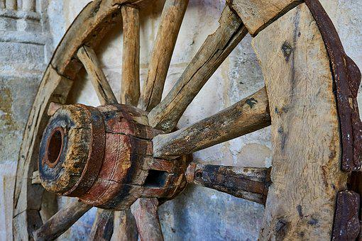 Middle Ages, Wheel, Dare, Old, Spokes, Wheels