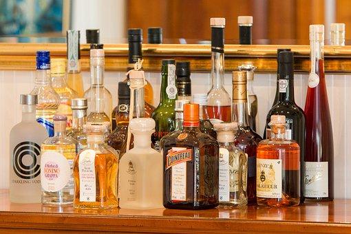 Spirits, Bottles, Alcohol, Brandy, Liqueur, Bar, Whisky