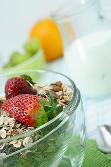 Muesli, Breakfast, Food, Healthy, Nutrition, Milk