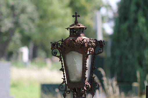 Cemetery, Grave, Lantern, Silent, Graves, Burial Ground
