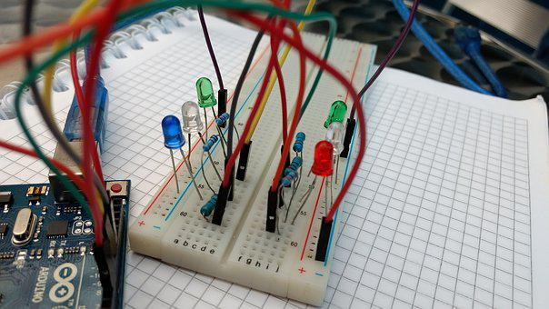 Arduino, Circuit, Cables, Breadboard, Led, Electricity