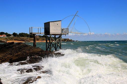 Wave, Sea, Fishing, Spray, Atlantic, Head, Coast, Sky