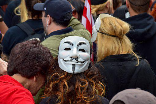 Woman, Protester, Mask, Protest, Female, Girl, Power