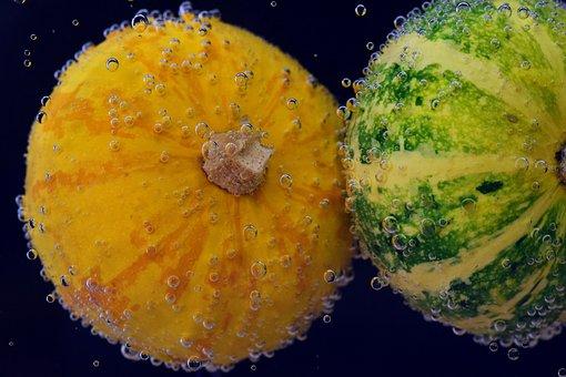 Pumpkin, Halloween, Gourd, Green, Orange, Yellow
