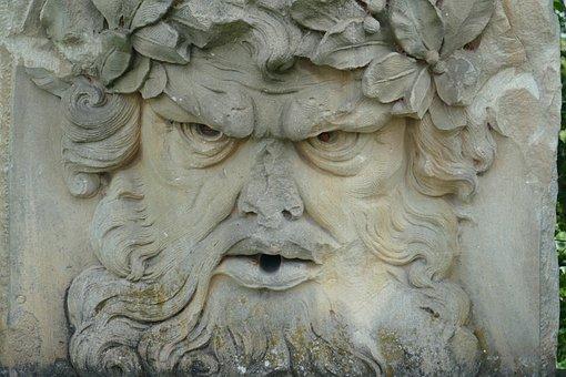Face, Monument, Grim, Meaningful, Gloomy, God, Semi-god